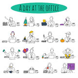 People at office desk Stock Image