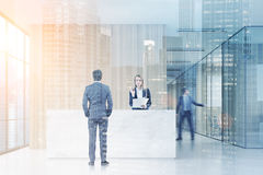 People in office hall, toned Stock Images