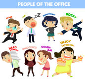 People of the office. Many personalities of people in the office Royalty Free Stock Photos