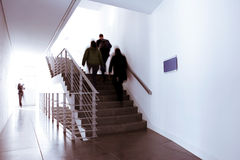 People on office stairway Royalty Free Stock Photo