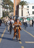People, old cycles,cycling through history event stock image