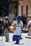 People in Old Havana, Cuba Stock Images