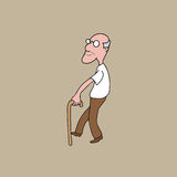 People old man with cane Royalty Free Stock Photography