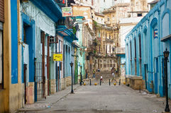 People in an old neighborhood in Havana Royalty Free Stock Photos