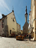 People on the Old square in Tallinn, Estonia Royalty Free Stock Photo