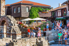 People at the old town Nessebar Stock Image
