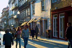 People at Old Town. Porto Royalty Free Stock Images