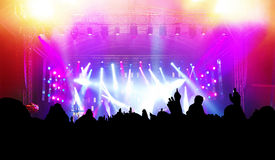 People On Music Concert, Disco Stock Images