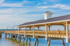 Free People On St Simons Pier Royalty Free Stock Images - 127904149