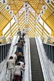 People On The Escalator Stock Photography