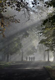 People On The Foggy Road Royalty Free Stock Photo