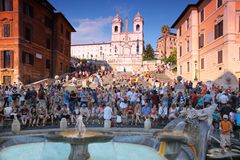 Free People On The Piazza Di Spagna Stock Photos - 18595593