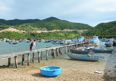 Free People On The Wooden Bridge At The Pier In Phan Rang, Vietnam Stock Images - 71084164