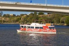 People onboard the free CityHopper ferry in Brisbane Stock Photo