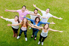 People with open arms Royalty Free Stock Photography