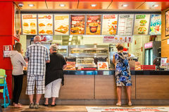 People Order Kentucky Fried Chicken Royalty Free Stock Photos