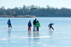 People out on sea ice Stock Photography