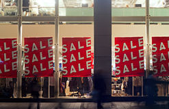 People out shopping in the christmas sales. People out shopping in the post christmas sales Stock Images