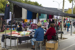 People at an outdoor market Stock Image