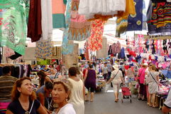 People in outdoor market Royalty Free Stock Photo