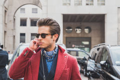 People Outside Ferragamo Fashion Show Building For Milan Men S Fashion Week 2015 Stock Photography