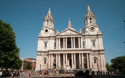 People outside Saint Paul's Cathedral, London. Royalty Free Stock Photography