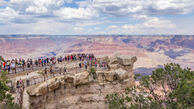 People overlooking the grand canyon Stock Photos