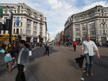 People in Oxford Circus in London Royalty Free Stock Image