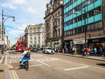 People in Oxford Street in London (hdr) Royalty Free Stock Photography