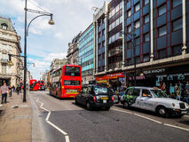 People in Oxford Street in London (hdr) Royalty Free Stock Images