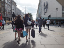 People in Oxford Street in London Stock Image