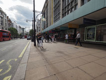 People in Oxford Street in London Stock Photos