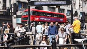 People in Oxford Street, London stock video footage