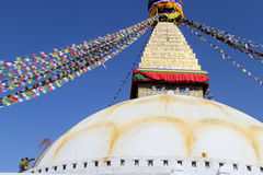 People paint stupa Royalty Free Stock Photo