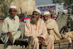 People in Pakistan. People having chat among themselves at Mardhan town outskirt of Islamabad, Pakistan Stock Photos