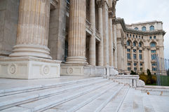 People Palace Bucharest. Front view Royalty Free Stock Image