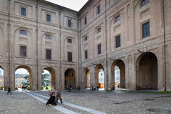 People in Palazzo della Pillotta in Parma city Royalty Free Stock Images