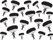People with parachute Stock Image