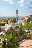 People at  Parc Guell made by  Antoni Gaudì - Barcelona Royalty Free Stock Photos