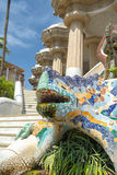 People at  Parc Guell made by  Antoni Gaudi - Barcelona Royalty Free Stock Photography