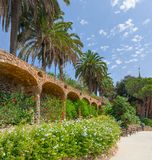 People at  Parc Guell made by  Antoni Gaudi - Barcelona Royalty Free Stock Images