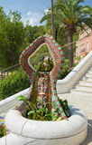People at  Parc Guell made by  Antoni Gaudi - Barcelona Royalty Free Stock Photos
