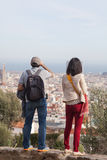 People in park guell Royalty Free Stock Photos