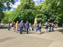 People in the Kelvingrove Park in Glasgow Royalty Free Stock Photography
