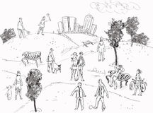 People in Park Royalty Free Stock Images