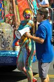 People participate in the 36th annual Mermaid Parade in Coney Island. NEW YORK, NY - JUNE 16: People participate in the 36th annual Mermaid Parade in Coney Stock Images
