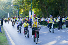 People participating in Bike for Dad activity Stock Photography