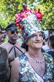 People participating at the Gay Pride parade in Madrid. MADRID, SPAIN - JULY, 6: People participaing at the Gay Pride parade. Near 1,200,000 people from all over stock photos