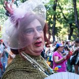 People participating at the Gay Pride parade in Madrid Royalty Free Stock Photos