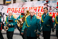 People participating in the parade dedicated to Royalty Free Stock Photography